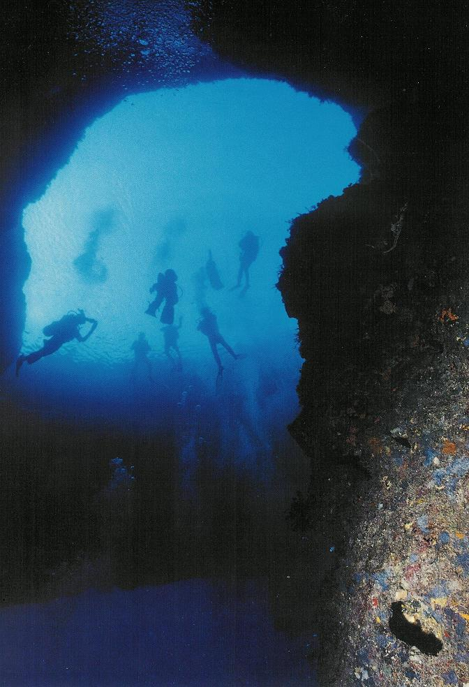 Gozo Diving - Bluehole from underwater