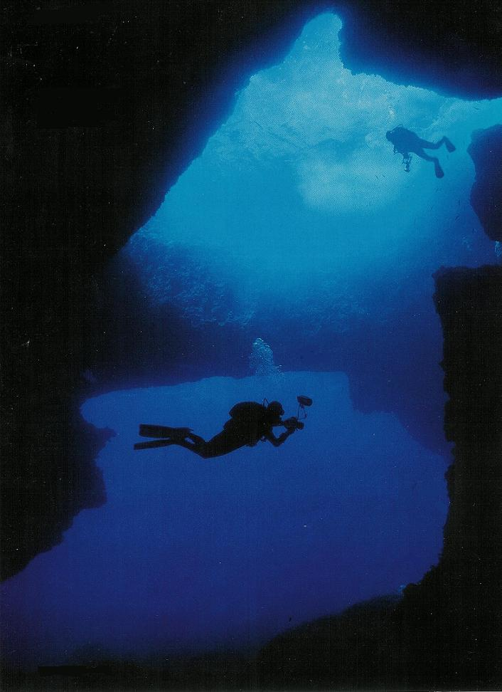 Gozo Diving - Blue Hole from the cavern
