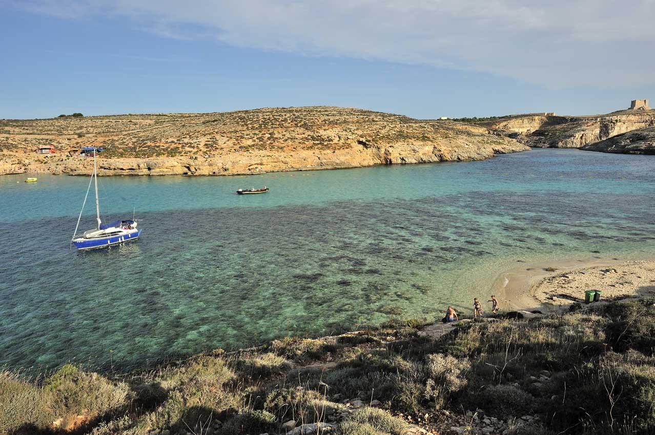 La crique de Blue Lagoon sur l'île de Comino -  Blue Lagoon cove