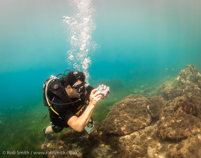 underwater photography course student padi
