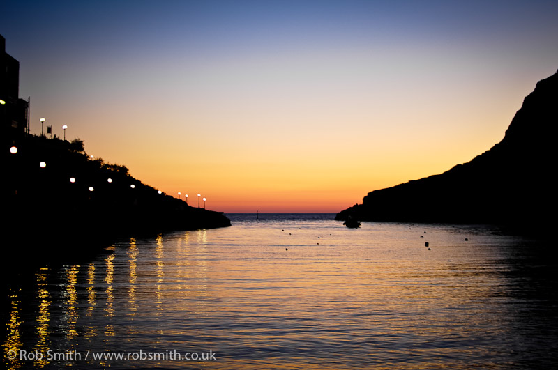 xlendi spring sunset