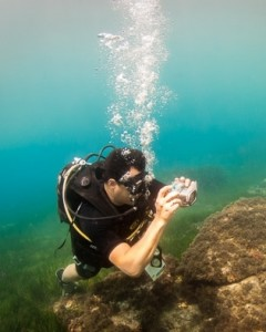 Underwater Photography Course Student